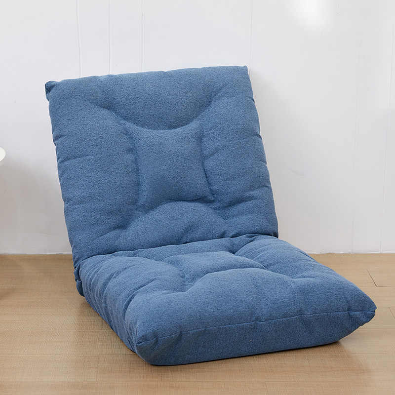 Japanese Lazy Sofa Padded Floor Chair Adjustable Backrest Gaming Chair Foldable Floor Seating For Meditation Seminars Reading Living Room Chairs Aliexpress