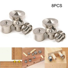8PCS Dowel Drill Centre Points Pin Panel Furniture Positioning Woodworking Round Pin Locator Woodworking Machinery Parts cheap