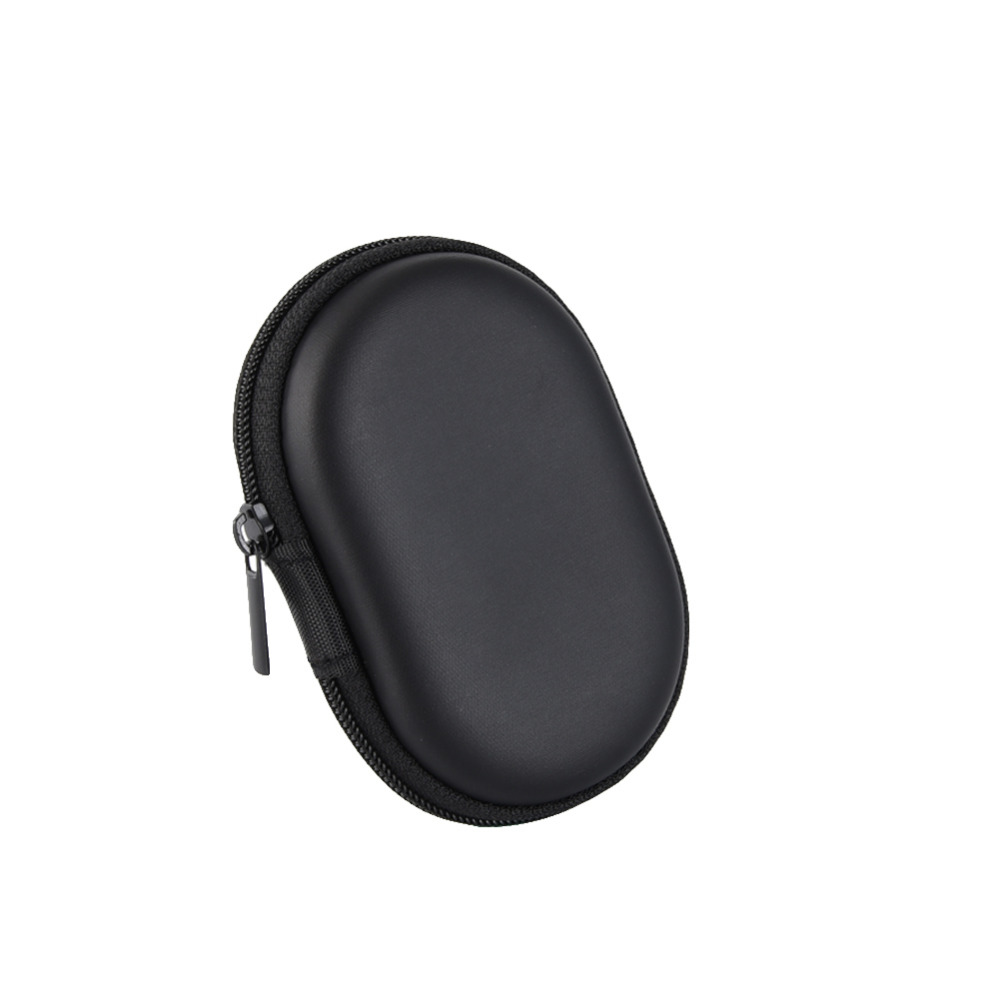Universal Portable Zipper Hard Headphone Case PU Leather Earphone Bag Protective Usb Cable Organizer Mini Earbuds Pouch Case