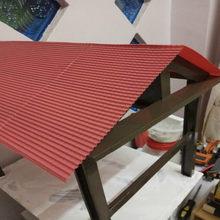 2 pçs/lote nova cor vermelha arquitetura escala modelo folha para construção e hobby ho train layout