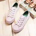 2016 verano nueva moda los zapatos de lona planos zapatos de las mujeres del todo-fósforo de algodón hecho a zapatos planos zapatos casuales blancos