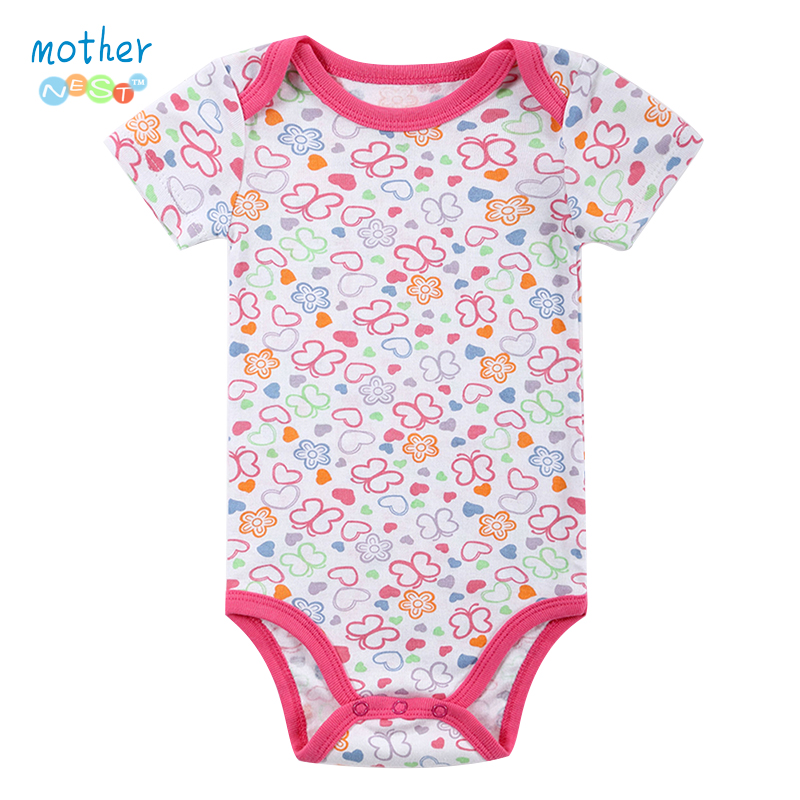 Novo 2016 Moda Bebê Meninas Recém-nascidas Do Bebê Menino de Manga Curta Borboleta Impresso Verão Corpo Rompers Outfits Roupas