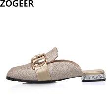 حذاء نسائي بكعب منخفض غير رسمي مقاس كبير 48 حذاء نسائي موضة 2020 حذاء نسائي مفتوح الأصابع سهل الارتداء