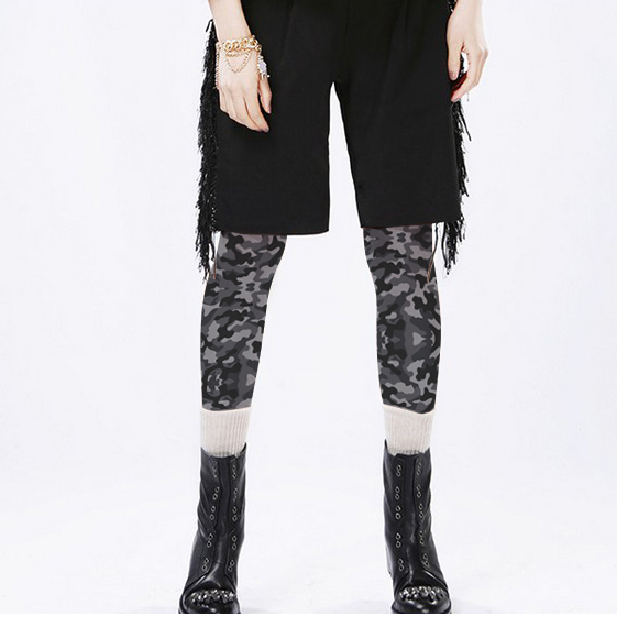 Fashion personality Camouflage print pantyhose 140d velvet thickening tights stockings female girl women tights