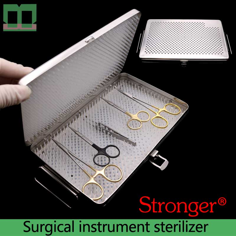 Surgical instrument sterilizer stainless steel Ophthalmic surgical instruments and tools are sterilized Medical disinfection box