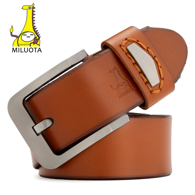 2016 Mens Designer Belts Luxury High Quality Cow Genuine Leather Strap Male Alloy Pin Buckle Brand Belt Man MU011