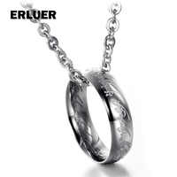 Fashion Lord of the r ings Charm Pendant Necklace For Women Men Stainless Steel Necklaces & Pendants lovers Gift Jewelry Bijoux