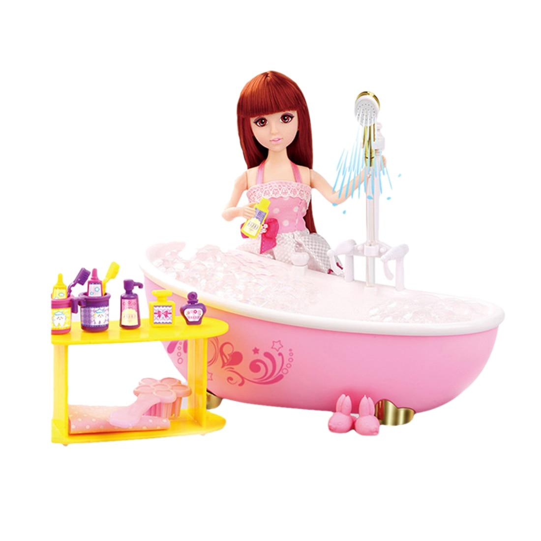18 pièces/ensemble fille jeu intéressant et faire semblant de bain jouet rêve salle de bain Playset soutien fille apprentissage vie compétence Kit
