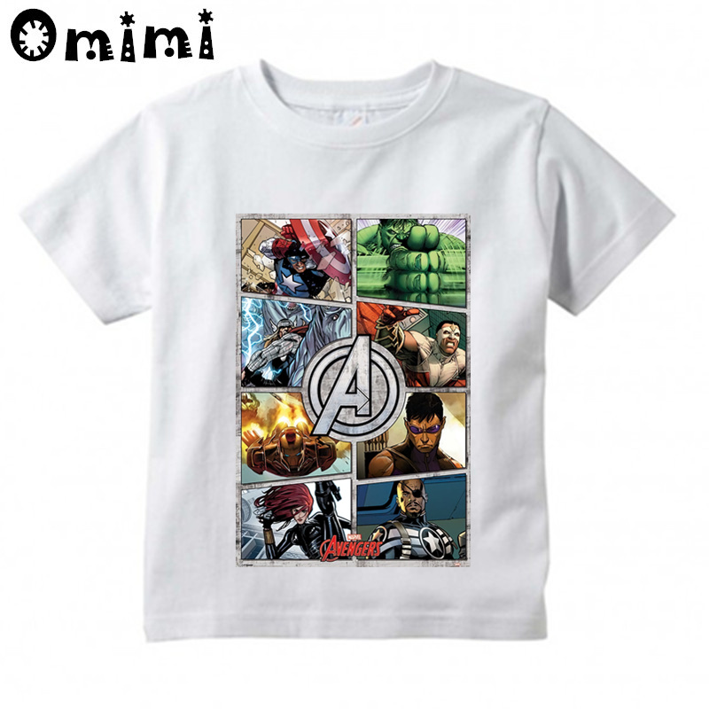 Children's New Top Tees Avengers Iron Man Thor Child Boys T Shirt Clothes Baby Boys Tops Spider Man Costume Kids Tshirt,ooo4568