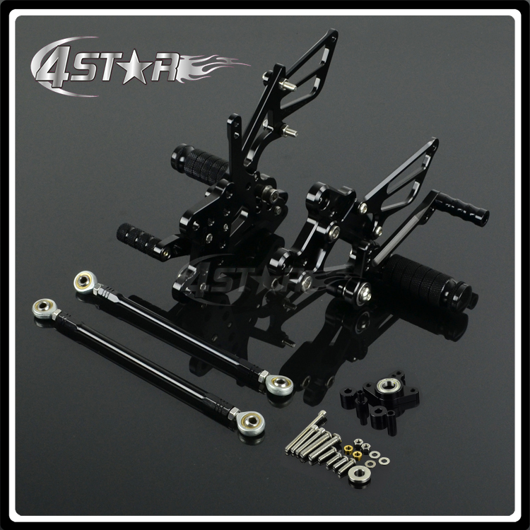 Motorcycle CNC Adjustable Foot Pegs Pedals Rests For HONDA CBR1000RR CBR1000 RR 2004-2007 2004 2005 2006 2007 04 05 06 07 motorcycle adjustable rider rear sets rearset fold foot rest pegs for honda cbr1000rr cbr 1000 rr 2004 2005 2006 2007