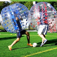 0.8mm Thick PVC Inflatable Bubble Buffer Balls Human Knocker Bumper Zorb Ball For Adult Outdoor Activity Running Body Suit NEW