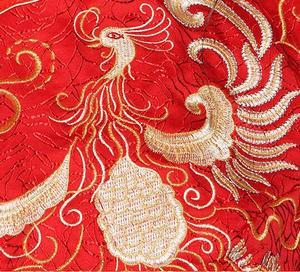Image 4 - 赤プラスサイズ 4XL 5XL 6XL花嫁のドレスのウェディングドレスレトロドレス中国チャイナドレス花嫁のトーストの服ロングセクション