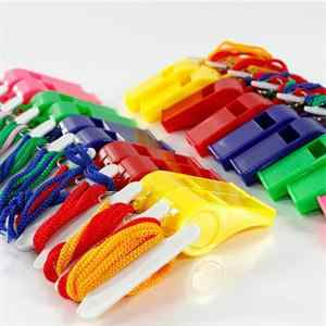 24pcs/bag Plastic Whistle With Lanyard for Boats, Raft,Party,Sports Games Emergency Survival All Brand New Items