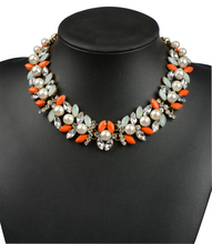 Vintage Simulated Pearl Fashion Statement Necklace for Women