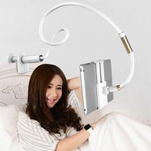 Masaüstü Tablet telefon standları 130cm Tablet tutucu ayarlanabilir Tablet dağı 4.0 ila 10.6 inç yatak Tablet PC standı Metal destek