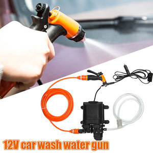 Image 2 - 12V High Pressure Car Washer Gun Pump Car Washer Washing Machine Electric Cleaning Auto Device Double Water Pump Kit