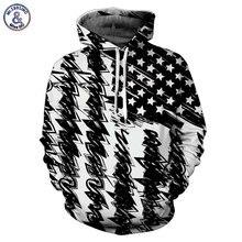 Mr.1991INC Новая мода с капюшоном мужчин/женщин Толстовки с капюшоном 3D принт черный, белый цвет Флаг США унисекс пуловеры