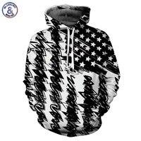 Mr 1991INC New Fashion Hooded Sweatshirt Men Women Hooded Hoodies 3d Print Black White USA Flag