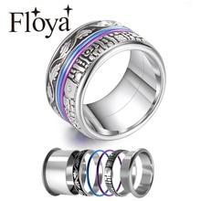 Floya Anillos Eternity para Mujer, banda de boda Vintage, accesorios intercambiables, Anillos de acero inoxidable, Anillos para Mujer