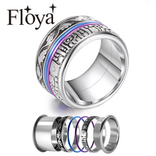 Floya Eternity Rings Women Vintage Wedding Band Interchangeable Accessories Rings Stainless Steel Ring Anillos Mujer Ringen