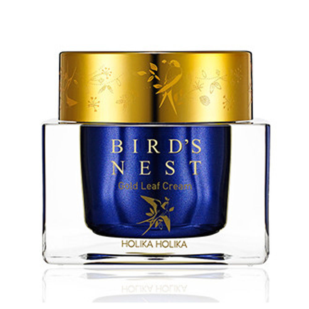 HOLIKA HOLIKA Prime Youth Bird Nest Gold Leaf Cream 55ml Face Cream Facial Care Anti Wrinkle Whitening Moisturizing Nourishing тканевая маска holika holika prime youth gold caviar gold foil mask объем 25 мл