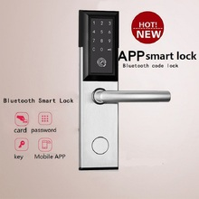 Bluetooth Electric Hotel Door Lock Code WIFI Smart APP Password Key Card