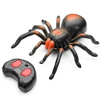 RC Spider, Lighting Infrared RC Spider Simulative Remote Control Animal Electric Toy Funny Novelty Christmas Children Kids Gift