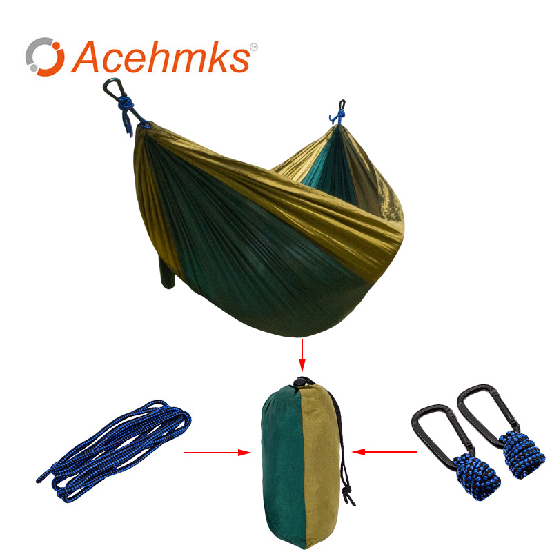 2 Person Hiking Hammock Garden Swing Portable Parachute Outdoor Furniture Acehmks Base Sleeping Bed Outdoor Camping Hamac led crystal chandeliers lamp round ring hanging lights modern led crystal chandelier fixture for living room lobby ac110v 240v