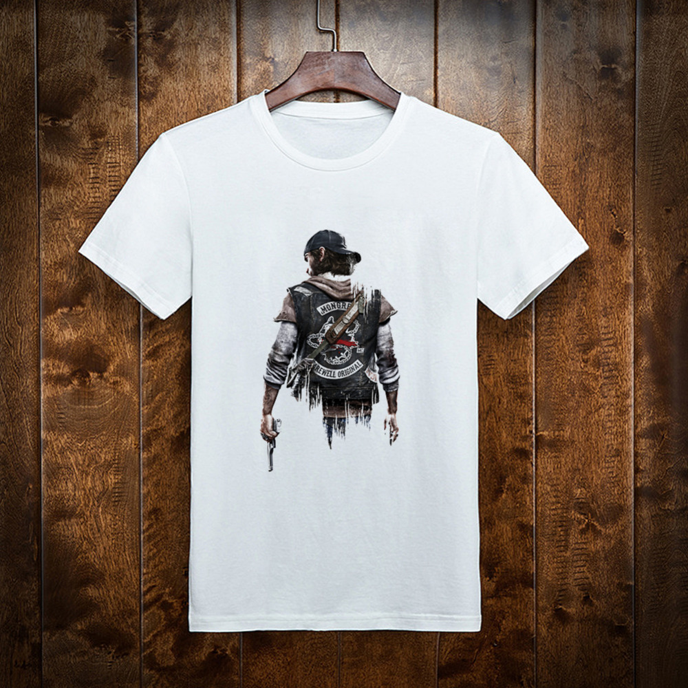 Halloween 2018 New  Days Gone  Deacon St.John  Cosplay Costume  Print Men T Shirt Short Sleeve Game High Quality T-Shirt Men