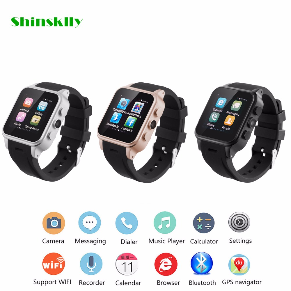 PW308 Bluetooth Smart Watch 1.54 inch Supports SIM Card Reminder Calls for Android 3G WiFi Camera Fitness Tracker 2016 update gv08 smart watch 15 inch 2mp