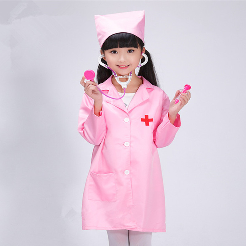kids nurse cosplay clothes nurse costume for children white doctor costume for children doctor uniform game clothing