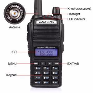 Image 3 - แบบพกพา 2 Way วิทยุ Walkie Talkie 10 km CB HAM วิทยุสมัครเล่นสำหรับ VHF UHF Dual Band UV 82 UV82 Baofeng UV 82 PLUS