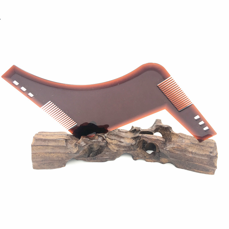 Beard Shaping Template Plus Beard Comb All-In-One Tools L-B02T