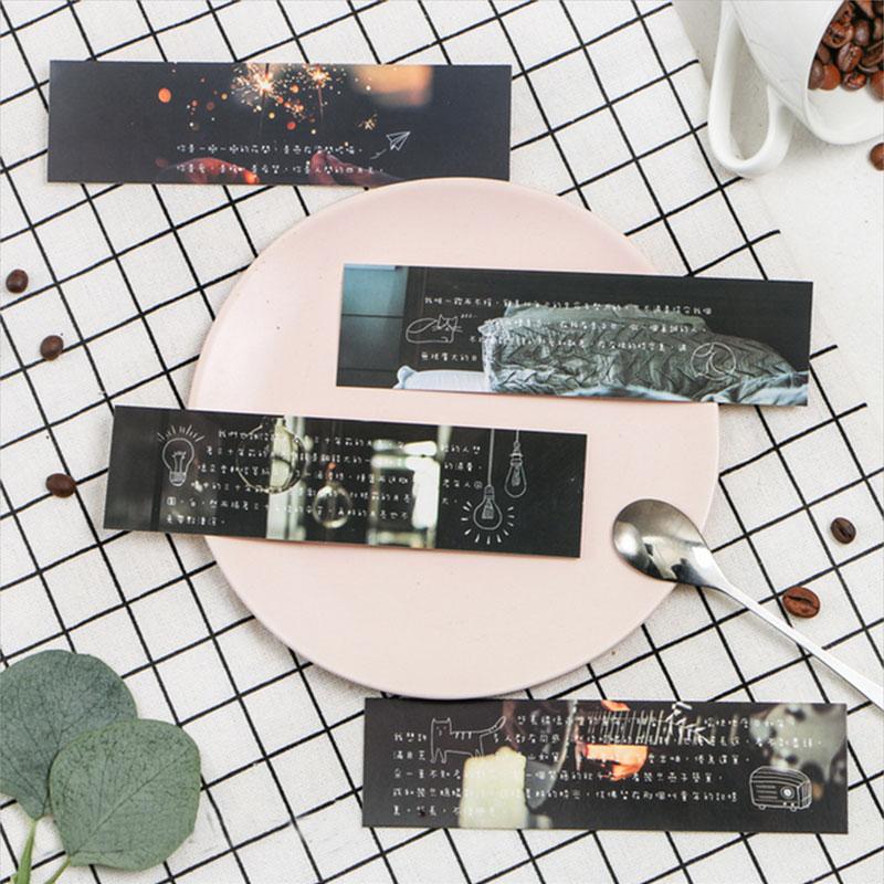 Купить с кэшбэком 30pcs/box beautiful setting sun bookmark Korean cute bookmarks book holder message card school supplies papelaria