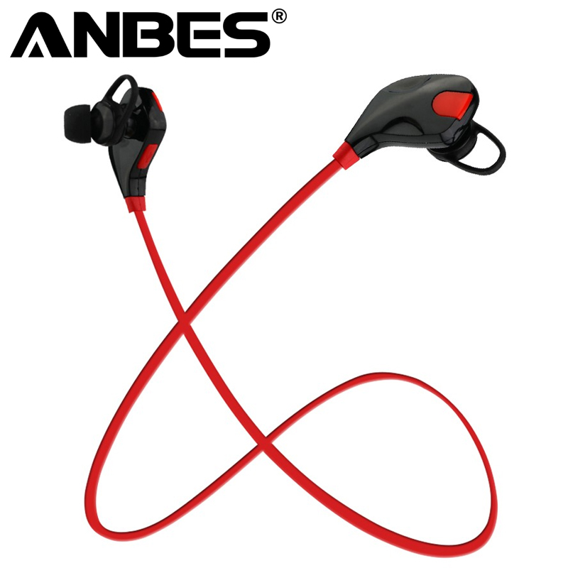 ANBES Bluetooth Headphones Wireless Stereo Headsets With Mic Stereo Earphones Handsfree Earbuds for iPhone Samsung Sport Running bluetooth4 1 headphones wireless sport earphones sweatproof running earbuds stereo sound earpiece with mic for gym sports