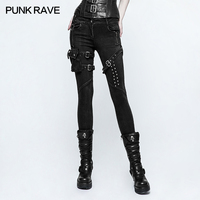 2017 new design PUNKRAVE skinny jean trousers women fashion pants for women k 295