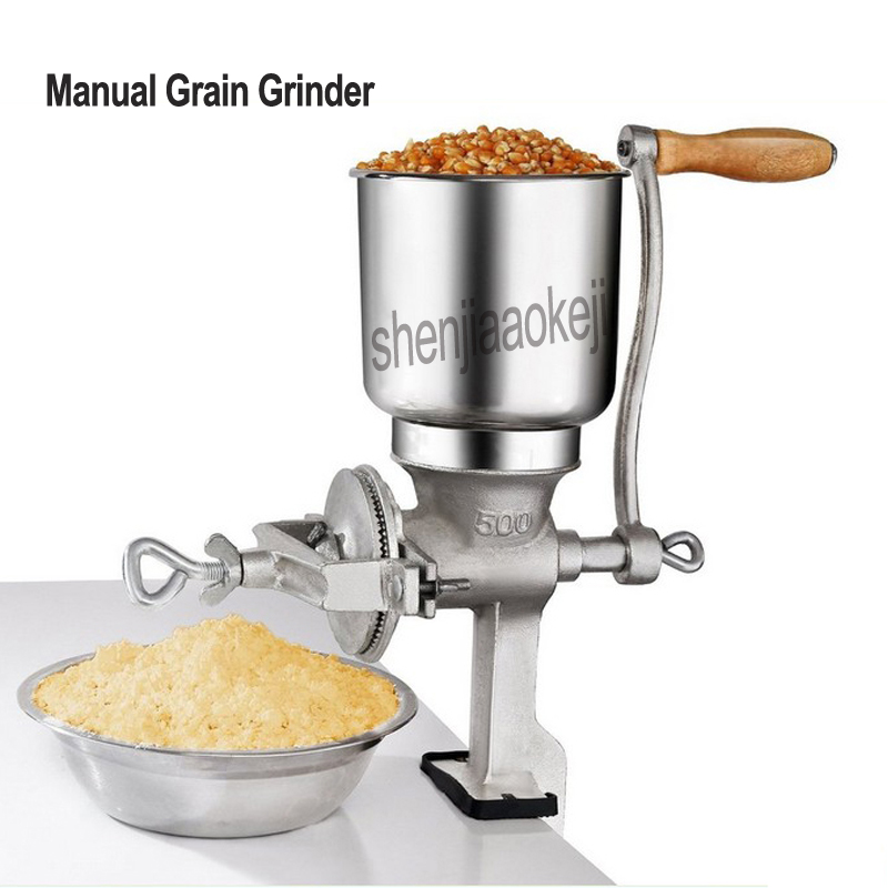 Hand-cranked Grain Grinder Corn Nut Soy Peanuts Rice Manual Graining Machine Restaurant Cereals Grinder 1pc