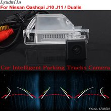 Lyudmila Parcheggio Intelligente Tracce PER Nissan Qashqai J10 J11/Dualis/HD Auto Back up Reverse Rear View Camera