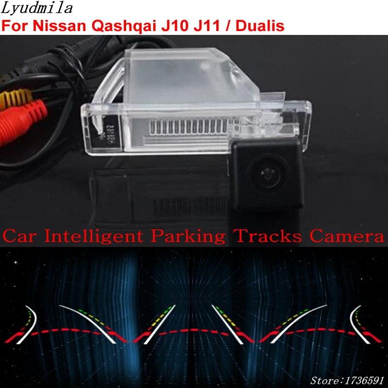 Lyudmila Faixas de Estacionamento Inteligente Do Carro Da Câmera PARA Nissan Qashqai J10 J11/Dualis/HD Carro Câmera de Visão Traseira de Volta até Reverter