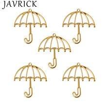 5Pcs Gold Umbrella Resin Frame Open Bezels Setting Blank Pendant Jewelry Making