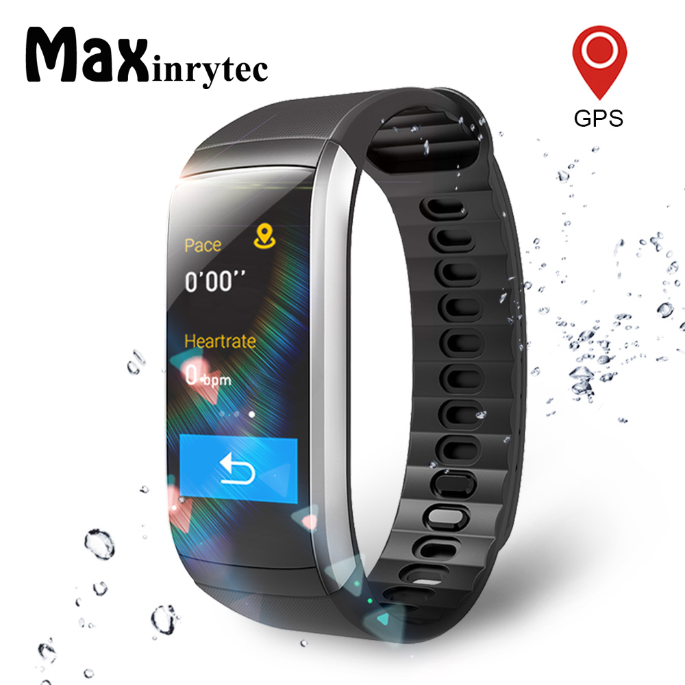 Maxinrytec KR02 Fitness bracelet IP68 Waterproof GPS Smart Band Heart Rate Monitor Activity Tracker Watch PK mi band 3 for men maxinrytec kr02 fitness bracelet ip68 waterproof gps smart band heart rate monitor activity tracker watch pk mi band 3 for men