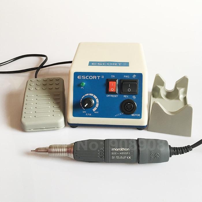 Fogászati laboratóriumi ékszer hobbi metszet eredeti Korea SAEYANG ESCORT-III mikromotor Dremel MARATHON H35SP1 autó csavarhúzó