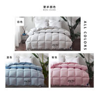 Luxury Nature Silk Comforter Cover set Full Twin Queen King Size Pink White Yellow Blanket Quilt For Winter/Autumn/Summer