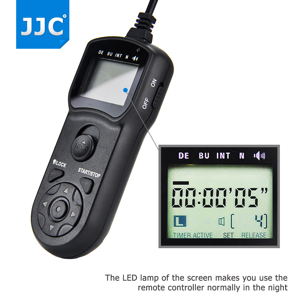 JJC Multi-Function <font><b>Shutter</b></font> Release Cable Cord Holder Wired <font><b>Timer</b></font> <font><b>Remote</b></font> Control for <font><b>NIKON</b></font> D7500/D7000/D750/D5500/P7800/D610/D600 image