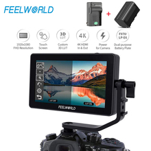 FEELWORLD F6 Plus 5,5 дюймов Suppor 4K 3D DSLR камера полевой монитор 1080P для DSLR камеры s и карданный стабилизатор