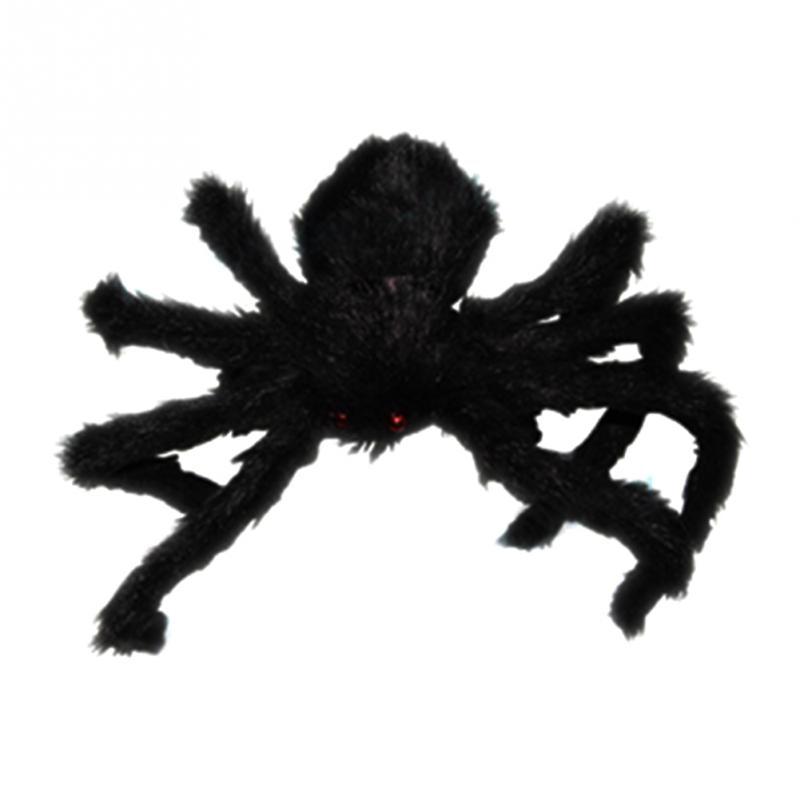 vivid plush spider halloween prop spider indoor outdoor parties bar diy decorations black new decorative