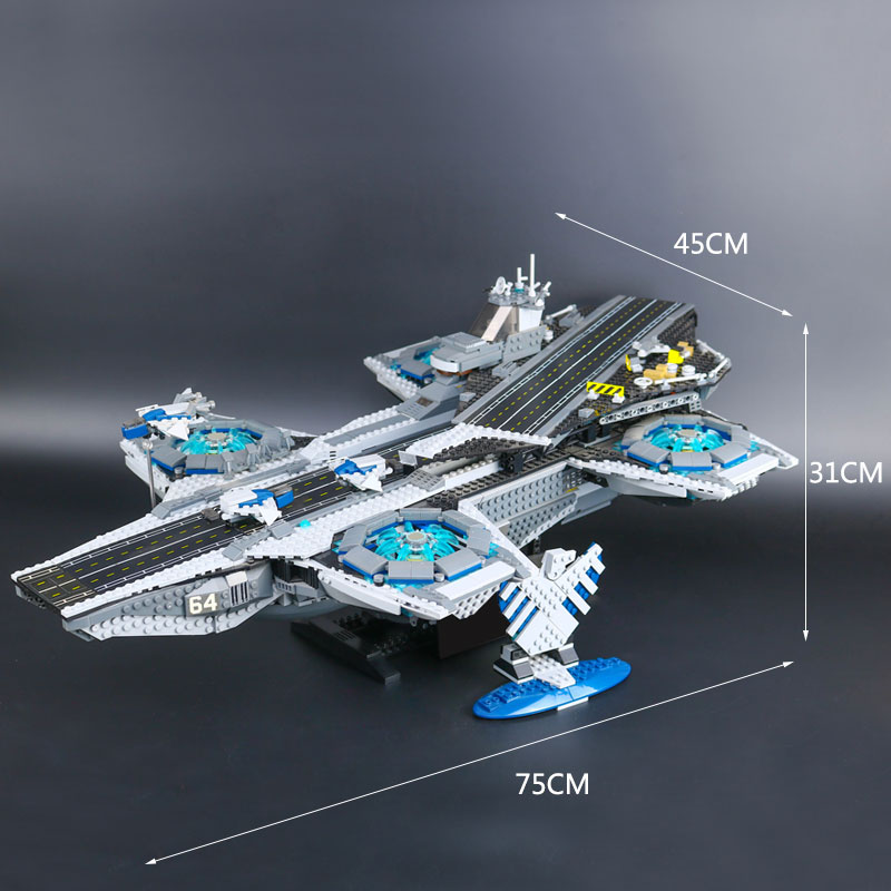 DHL 07043 Super Heroes The Shield Helicarrier Model Compatible With New 76042 Educational Building Kits Blocks
