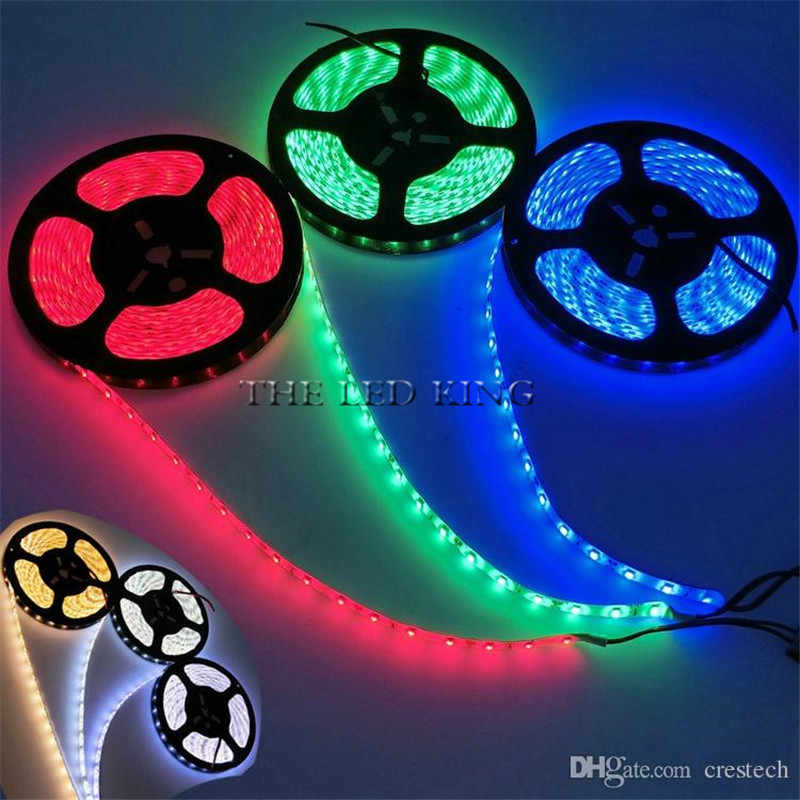 SMD 2835 RGB LED bande étanche 5M 300LED cc 12V RGBW RGBWW Fita lumière LED bandes Flexible néon bande Luz Monochrome