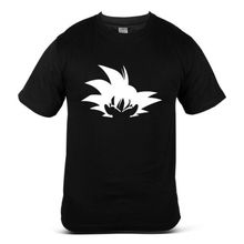 7270-BK Dragon Ball Z Krillin Goku Saiyan Character Fight Black Mens Tee T-Shirt Free shipping цена и фото