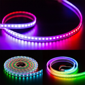Image 5 - Bande lumineuse RGB Led, ruban déclairage WS2812B, 1m/2m/5m, 30/60/100/144 diodes/m, adressable individuellement, noir/blanc, WS2812ECO IC DC5V